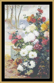 Chrysanthemums -Cross Stitch Download | Crafting | Cross-Stitch | Other