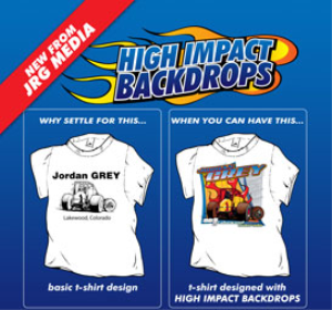 high impact back drops series 1, designs 1-10