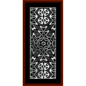 fractal 292 bookmark cross stitch pattern by cross stitch collectibles