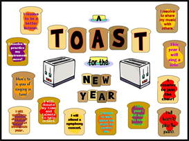 Toast for the New Year Bulletin Board Kit | Other Files | Patterns and Templates