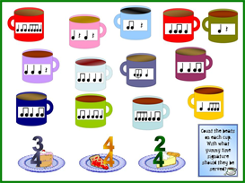 counting cups bulletin board