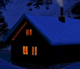 snowbound cabin