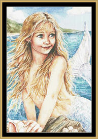 Mermaid-Cross Stitch Pattern Download | Crafting | Cross-Stitch | Other