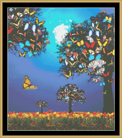 Butterfly Spring Tree-Cross Stitch Download | Crafting | Cross-Stitch | Other