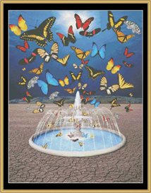 Butterfly Fountain - Cross Stitch Pattern Download | Crafting | Cross-Stitch | Other