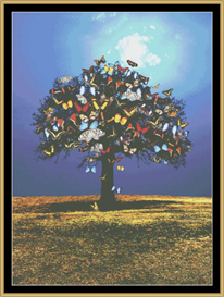 Butterfly Oak Tree - Cross Stitch Pattern Download | Crafting | Cross-Stitch | Other