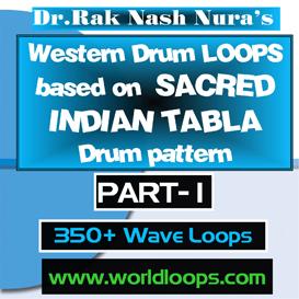 Western Drums in SACRED TABLA STYLE LOOPS - PART-1 | Music | Soundbanks