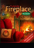 yuletide fireplace in a box