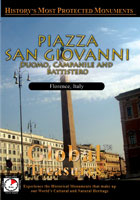 Global Treasures  PIAZZA SAN GIOVANNI Duomo Campanile And Battistero Florence, Italy   Movies and Videos   Action