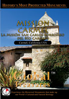 Global Treasures  MISSION CARMEL La Mision San Carlos Borremeo De Rio Carmelo, California | Movies and Videos | Action