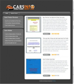 Cars Review Site