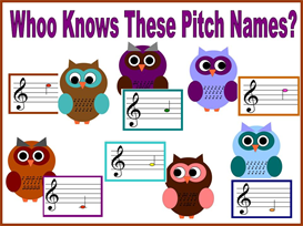 Whoo Knows These Pitch Names Bulletin Board Kit | Other Files | Patterns and Templates