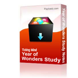 year of wonders study notes