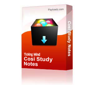 Cosi Study Notes | Other Files | Documents and Forms