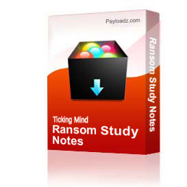 Ransom Study Notes | Other Files | Documents and Forms