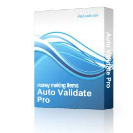 Auto Validate Pro | Software | Other