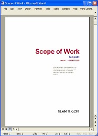 Scope of Work | Software | Software Templates