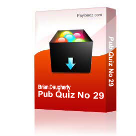 Pub Quiz No 29 | Other Files | Documents and Forms