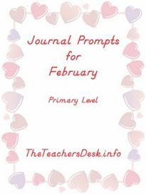 Journal Prompts for Primary - February | eBooks | Education