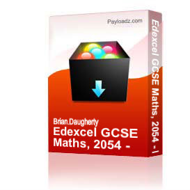 Edexcel GCSE Maths, 2054 - Higher 2008 | Other Files | Documents and Forms