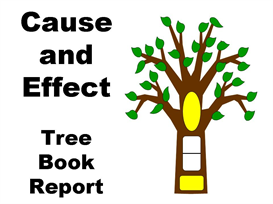 cause and effect tree book report set