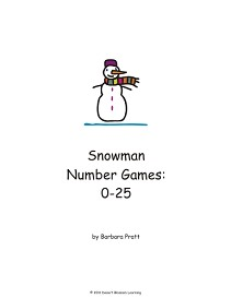 snowman number games 0-25