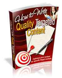 How to write Quality Targeted Content | eBooks | Business and Money