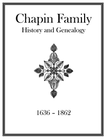 Chapin Family History and Genealogy | eBooks | History