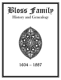 Bloss Family History and Genealogy | eBooks | History