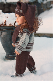 dollknittingpattern - 0053d anders - sweater, scarf, pant, sport socks and hat