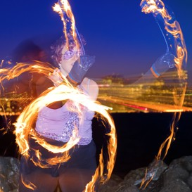 Poi Fire Dancing Lesson: 20110202 Intermediate | Movies and Videos | Educational