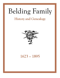 Belding Family History and Genealogy | eBooks | History