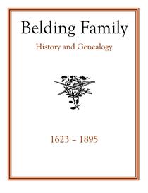 Belding Family History and Genealogy   eBooks   History