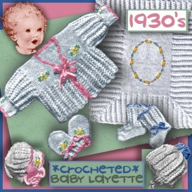 BABY LAYETTE Crocheted circa 1930 | eBooks | Arts and Crafts