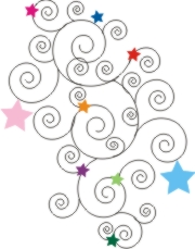 Stars and Swirls Machine Embroidery File | Other Files | Arts and Crafts