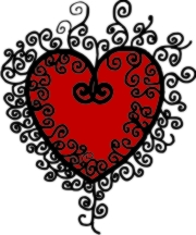 Heart and Scrolls Machine Embroidery File | Other Files | Arts and Crafts