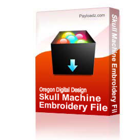 Skull Machine Embroidery File | Other Files | Clip Art
