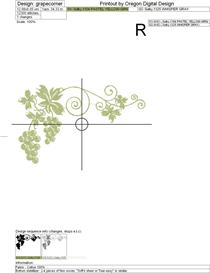 grape corner machine embroidery file