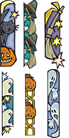 Halloween Bookmarks All Machine Embroidery File | Other Files | Arts and Crafts