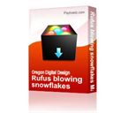 Rufus blowing snowflakes Machine Embroidery File | Other Files | Arts and Crafts