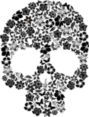 floral skull Machine Embroidery File | Other Files | Arts and Crafts