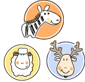 sheep-moose-zebra Machine Embroidery Files | Other Files | Arts and Crafts