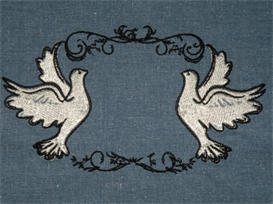 Doves Machine Embroidery File | Other Files | Arts and Crafts