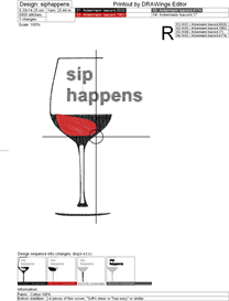 Sip Happens Machine Embroidery File | Other Files | Arts and Crafts