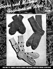 Socks and Mittens - Adobe .pdf Format | eBooks | Arts and Crafts