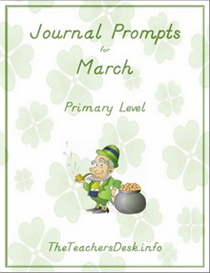 Journal Prompts for Primary - March | eBooks | Education