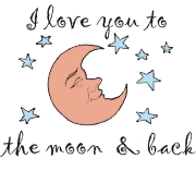 Love you to the moon | Other Files | Arts and Crafts