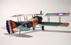 spad xiii paper model airplane