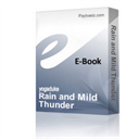 Rain and Mild Thunder | Music | Miscellaneous
