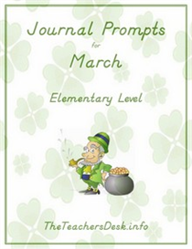 Journal Prompts for Elementary - March | eBooks | Education